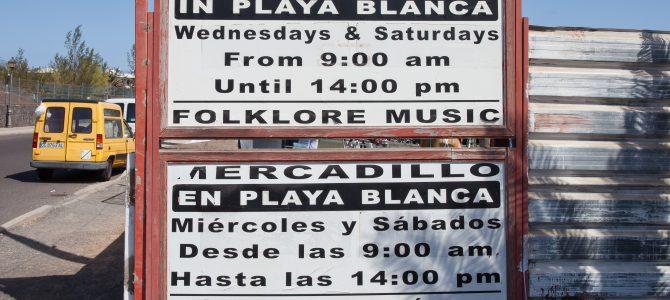 Playa Blanca Market in Lanzarote